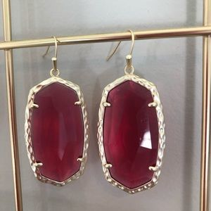 Kendra Scott Ella Drop Earrings Clear Berry/Gold